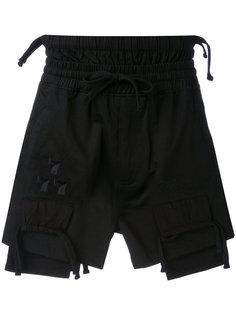 шорты с вышивкой  KTZ