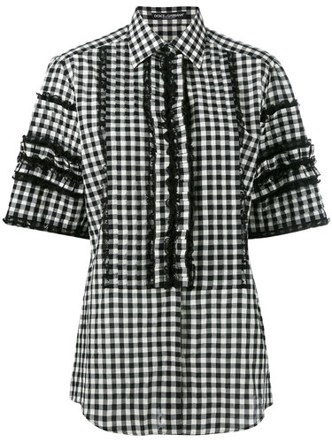 рубашка в клетку с короткими рукавами Dolce & Gabbana