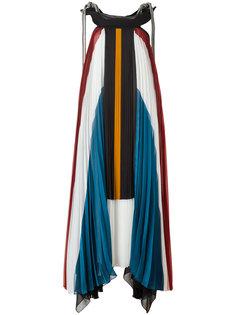 длинное плиссированное платье Chloé