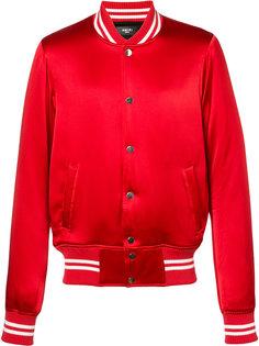 куртка-бомбер с полосатой отделкой Amiri