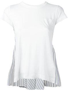 футболка с декорированной спинкой Sacai