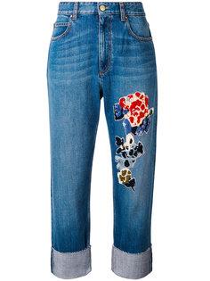 джинсы с вышивкой из пайеток Sonia Rykiel