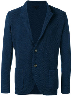 текстурированный пиджак на две пуговицы Lardini