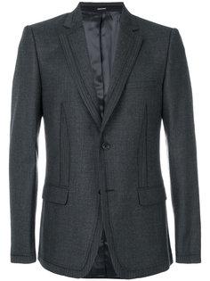 полосатый пиджак с декоративными швами Alexander McQueen