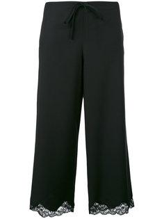 укороченные брюки с кружевной отделкой Alexander Wang