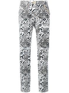 джинсы прямого кроя с леопардовым принтом  Philipp Plein