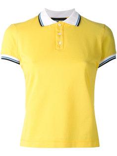футболка-поло с полосатой окантовкой Dsquared2