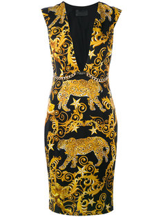 платье шифт с принтом в стиле барокко Philipp Plein