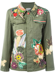 куртка с цветочной вышивкой History Repeats