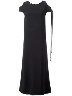 платье-футболка с вырезными деталями на плечах Helmut Lang