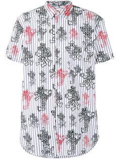 полосатая рубашка с принтом Comme Des Garçons Shirt
