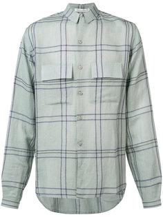 клетчатая рубашка на пуговицах  Denis Colomb