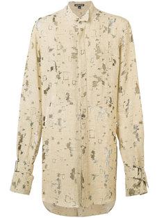 рубашка свободного кроя Ann Demeulemeester