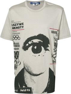 футболка с рисунком в виде глаза Junya Watanabe Comme Des Garçons
