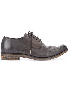 ботинки на шнуровке с эффектом поношенности A Diciannoveventitre
