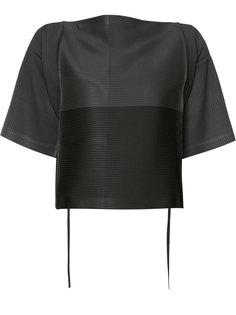 блуза с широкими рукавами и поясом Issey Miyake