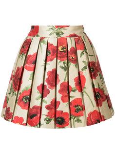 юбка с цветочным принтом и эффектом металлик Alice+Olivia