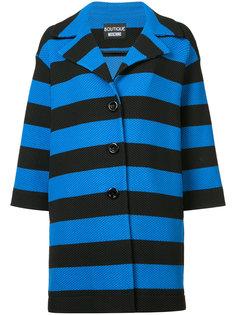 пальто в полоску Boutique Moschino