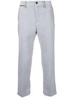 укороченные брюки в тонкую полоску Sacai