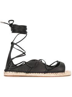 сандалии-эспадрильи со шнуровкой Dsquared2