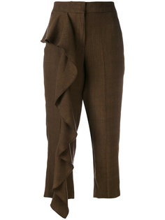 укороченные брюки с оборками Dondup