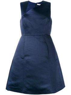 платье с асимметричным вырезом  Halston Heritage