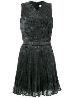плиссированное платье с пайетками Carven