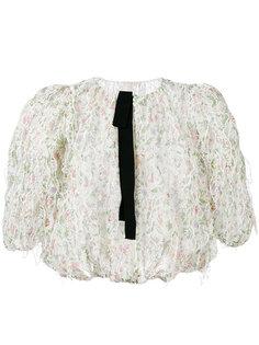 прозрачная блузка с вышивкой Giambattista Valli