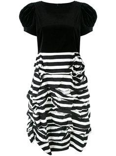 платье в полоску со сборками Comme Des Garçons Girl
