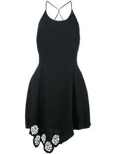 платье с резным подолом Versus