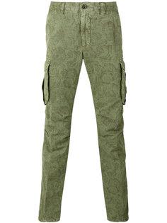 брюки карго с принтом  Incotex
