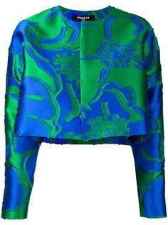 укороченная куртка с цветочным жаккардовым узором  Paule Ka