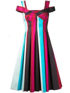 плиссированное платье в полоску Paule Ka