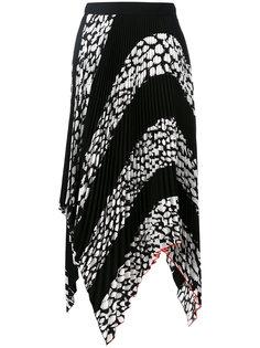 плиссированная юбка с леопардовым принтом  Proenza Schouler