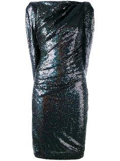 облегающее платье с элементом накидки Talbot Runhof