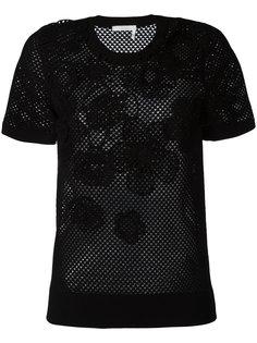 сетчатая футболка с цветами Chloé