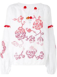 блузка с цветочным узором  Forte Couture