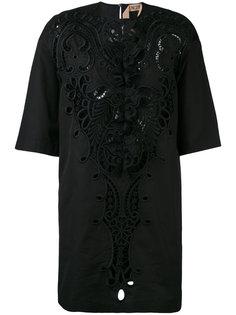 платье-шифт с кружевной отделкой Nº21