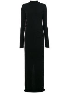 длинное тонкое трикотажное платье By Malene Birger