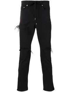 джинсы скинни с рваными деталями Attachment