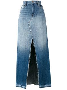 джинсовая юбка со шлицей спереди J Brand