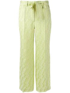 жаккардовые укороченные брюки  Etro