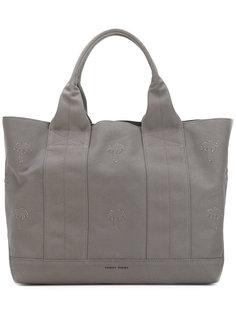 сумка-шоппер с нашивками в форме пальм Tomas Maier