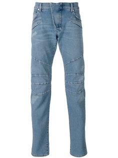 джинсы кроя слим с простроченной отделкой Pierre Balmain