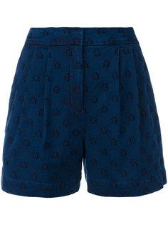 джинсовые шорты с вышивкой звезд Chinti & Parker