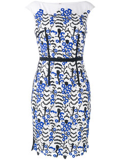платье-шифт с кружевной аппликацией Talbot Runhof