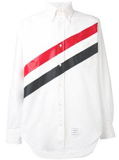 рубашка в диагональную полоску Thom Browne