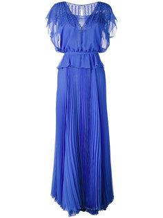 плиссированное вечернее платье Talbot Runhof