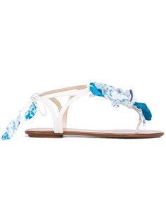 сандалии Flora  Aquazzura