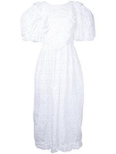 вышитое платье с открытой спиной Simone Rocha